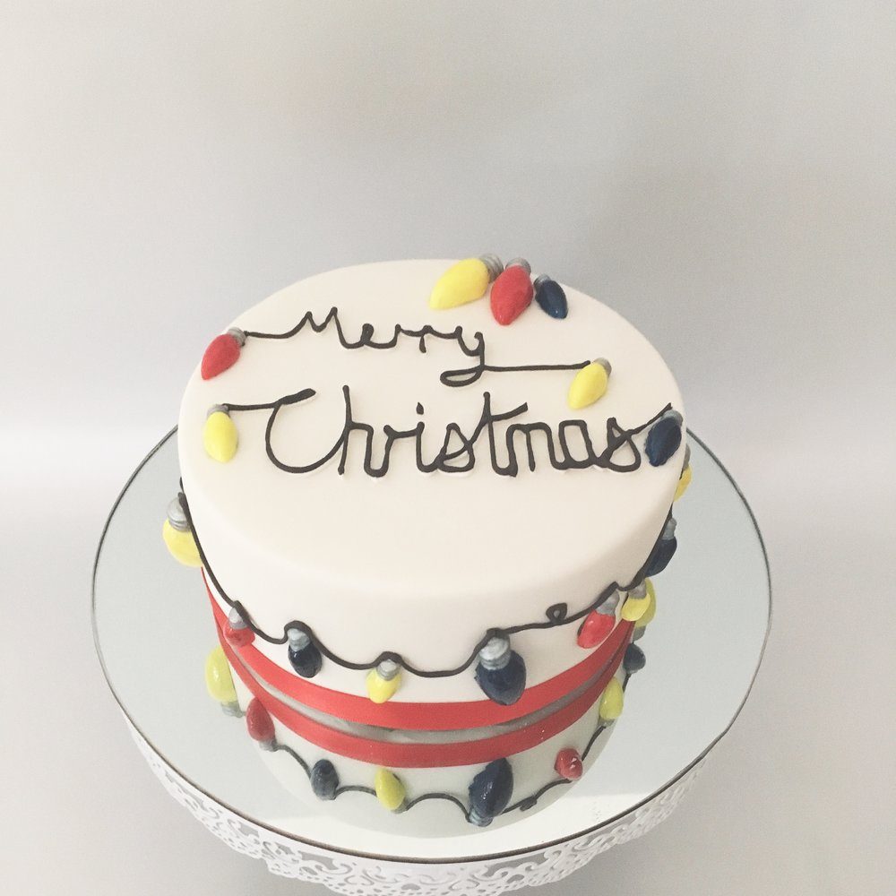 Christmas Lights Christmas Cake