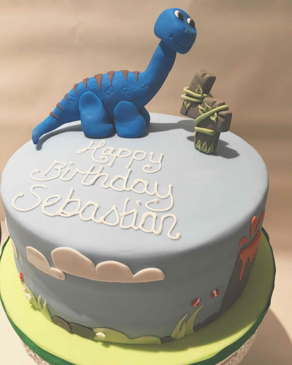 Dinosaur Children's Birthday Cake