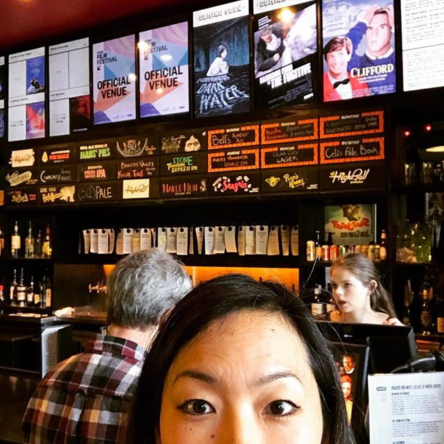 @drafthouse theatre - dozens of beer on tap and full dinner service right to ur theatre seat!