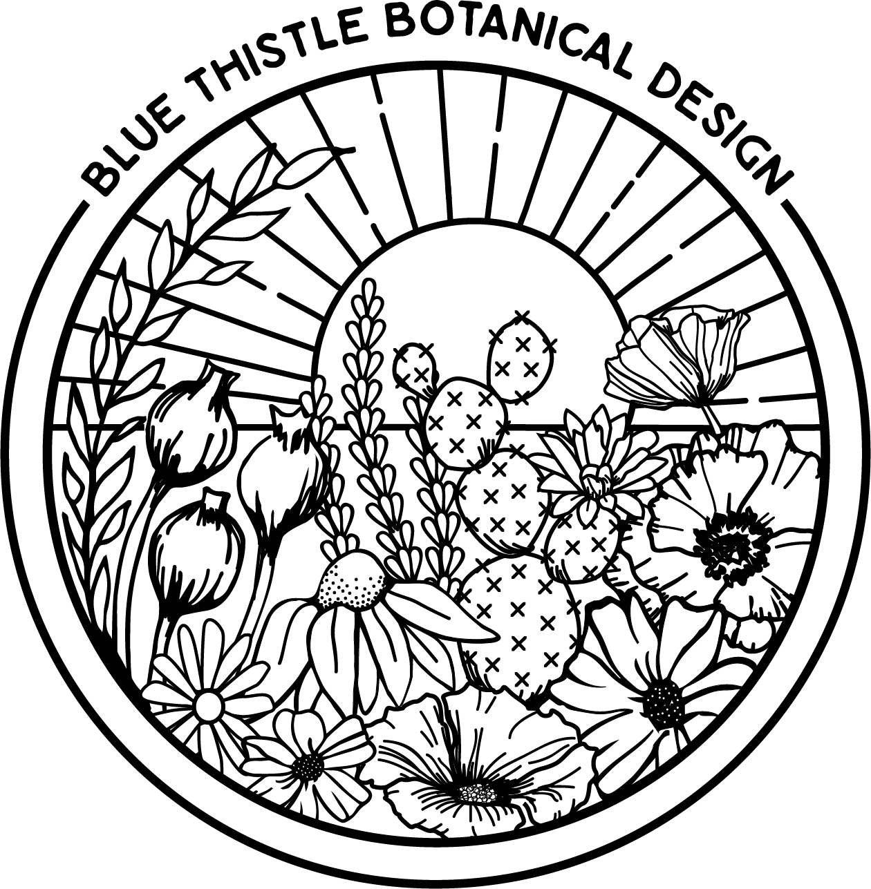 Blue Thistle Botanical