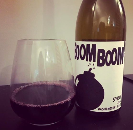 Charles Smith Boom Boom Syrah from Washington State. 2014 Vintage. Yes, this is the wine that helped us come up with the subtitle.