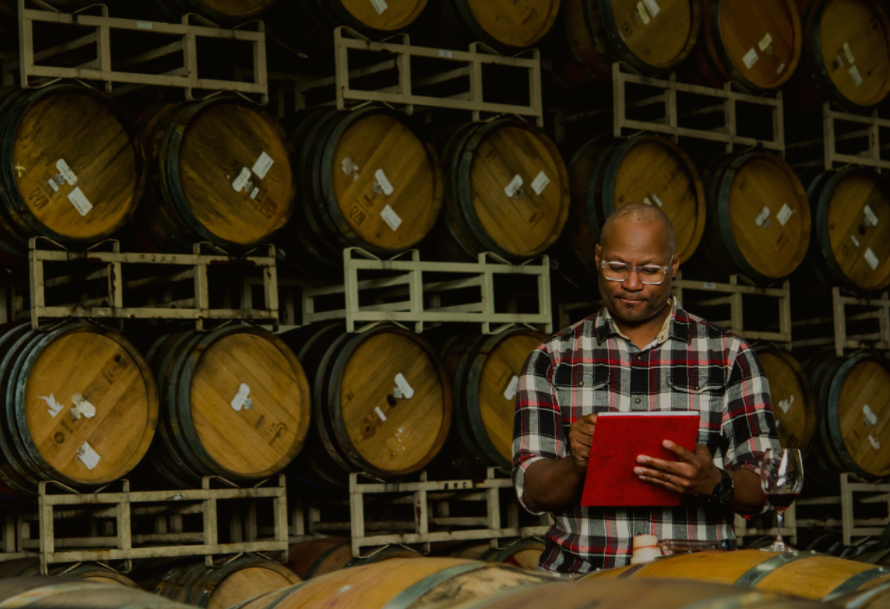 André Hueston Mack hard at work making great wines, and working with Microsoft to show winemakers can be disruptive with the right technology at their hands!