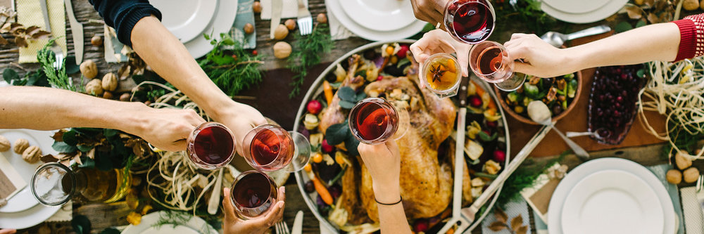 Turkey, friends, wine. What are we missing?