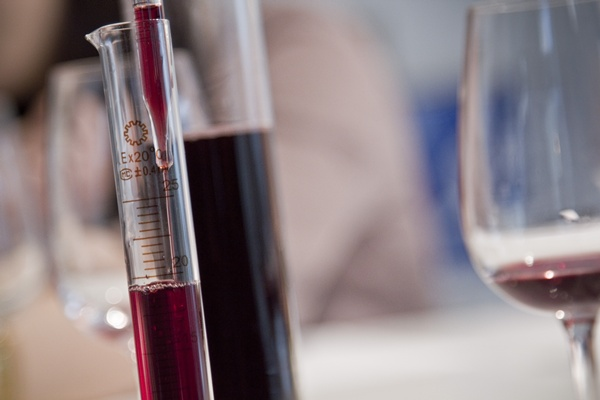 A calculated art form. Blending wines requires precision to create the desired balance of flavors and experience the winemaker wants from a wine.