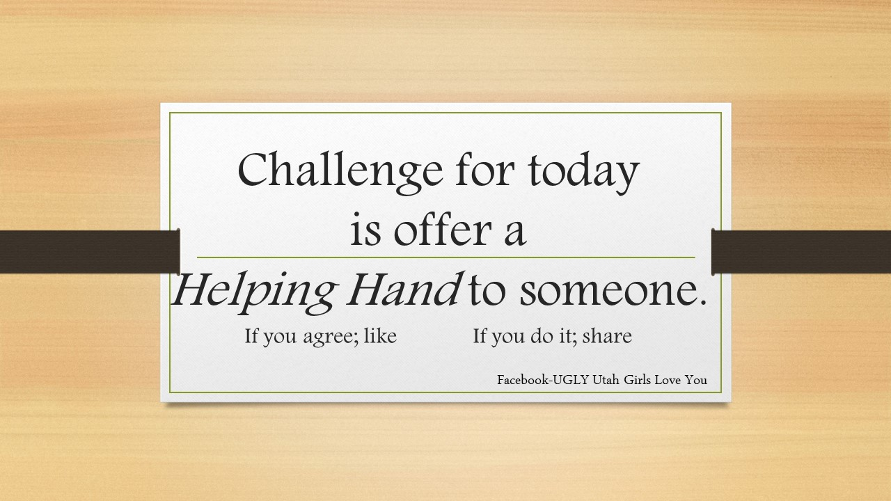 challenge helping hand