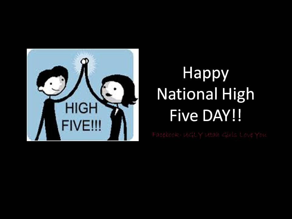 Happy high five