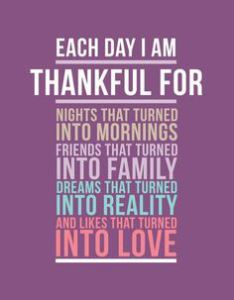 each day i am thankful