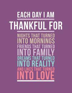 each day i am thankful