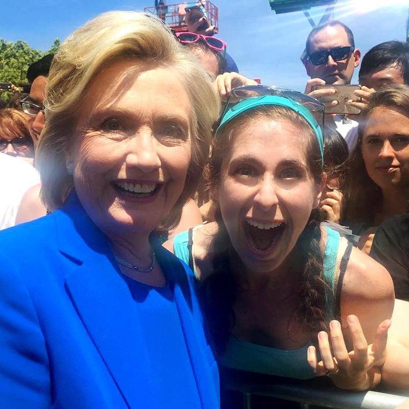 Hillary and Liz on Roosevelt Island, NYC.
