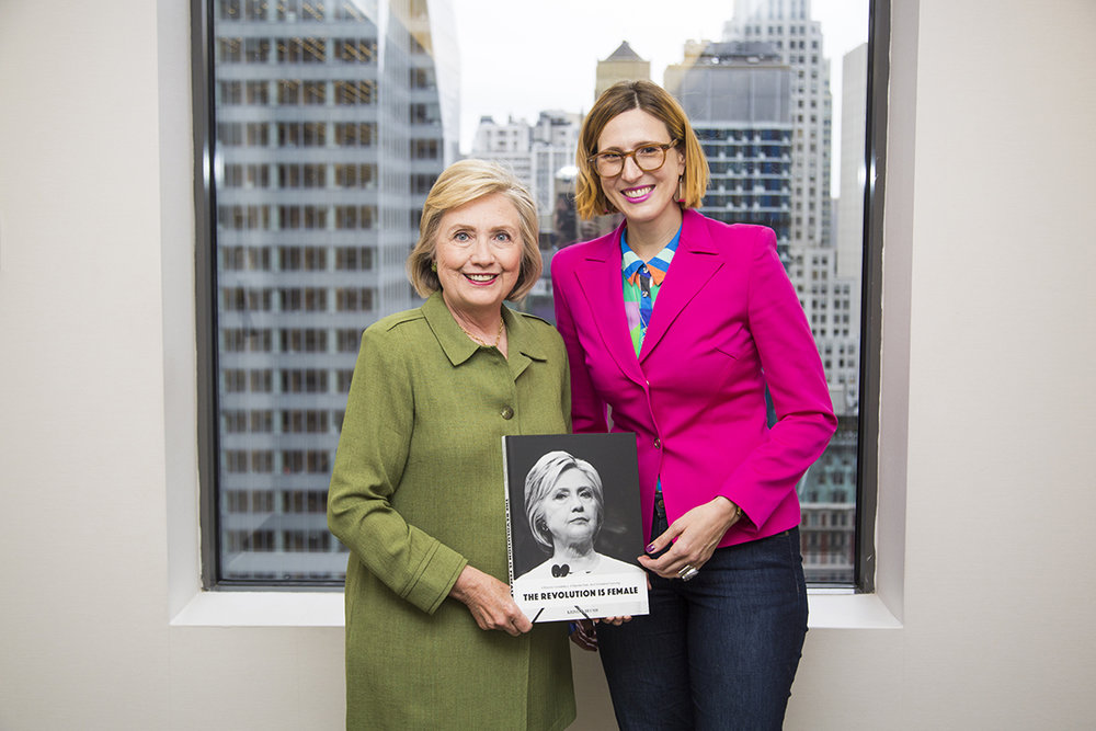 Hillary Rodham Clinton and Photographer Kristen Blush, September 21, 2018. New York City