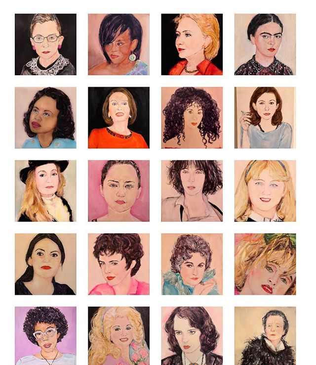 #Repost @jennybelin ・・・ March is Women's History Month: Happy Month! Here is a screen shot of the Feminist section from my website: #rbg #michelleobama #hrc #fridakahlo #anitahill #nancypelosi #cher #joandidion #andmanymore ❤️