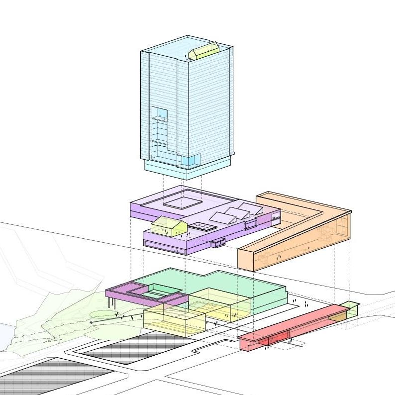 Mixed Use Master Plan      Retail, Office, Residential, Leisure, Transit  Toronto, Ontario    Design Development & Master Planning
