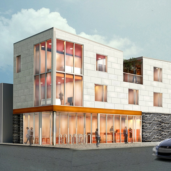 Mixed-Use  Woodbine Ave. Toronto  C.Y Lee Architect  2015