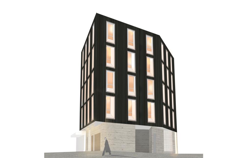 Zinc Laneway Office  In Progress  Ontario  Cumulus Architects Inc.