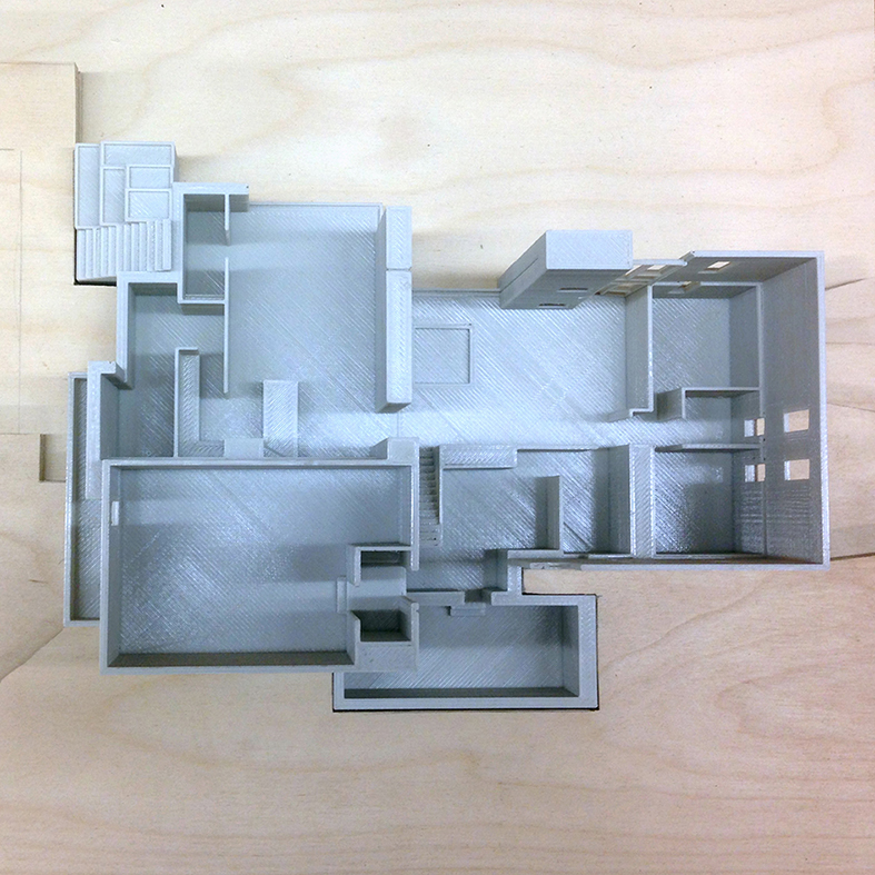 3D Printed model of Middletown Rd. Residence Flamborough, ON Setless Architecture 2018
