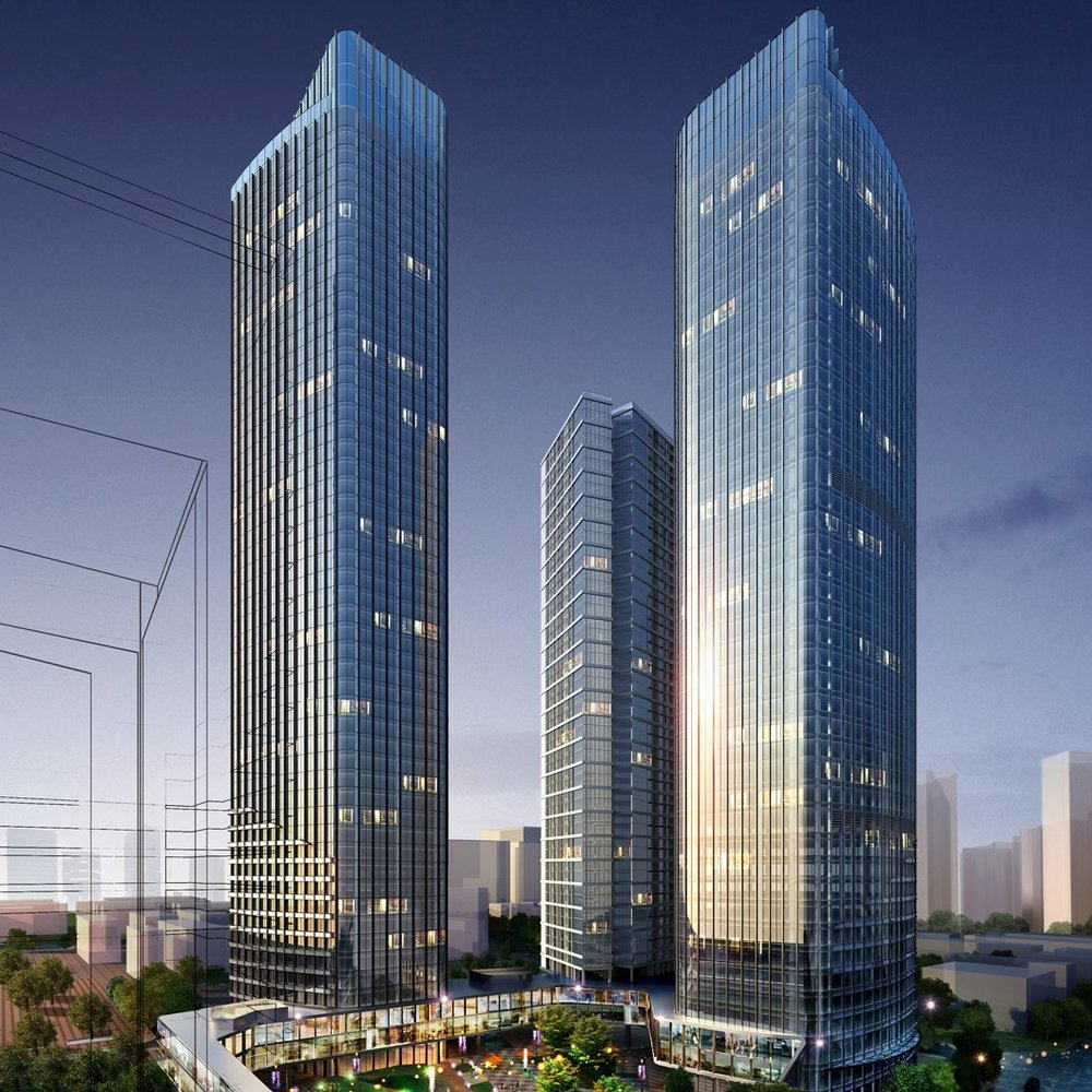 180m High Office Tower, Shenzhen City, China  Complete  Shenzhen City, China  OUR Architectural Design Ltd.