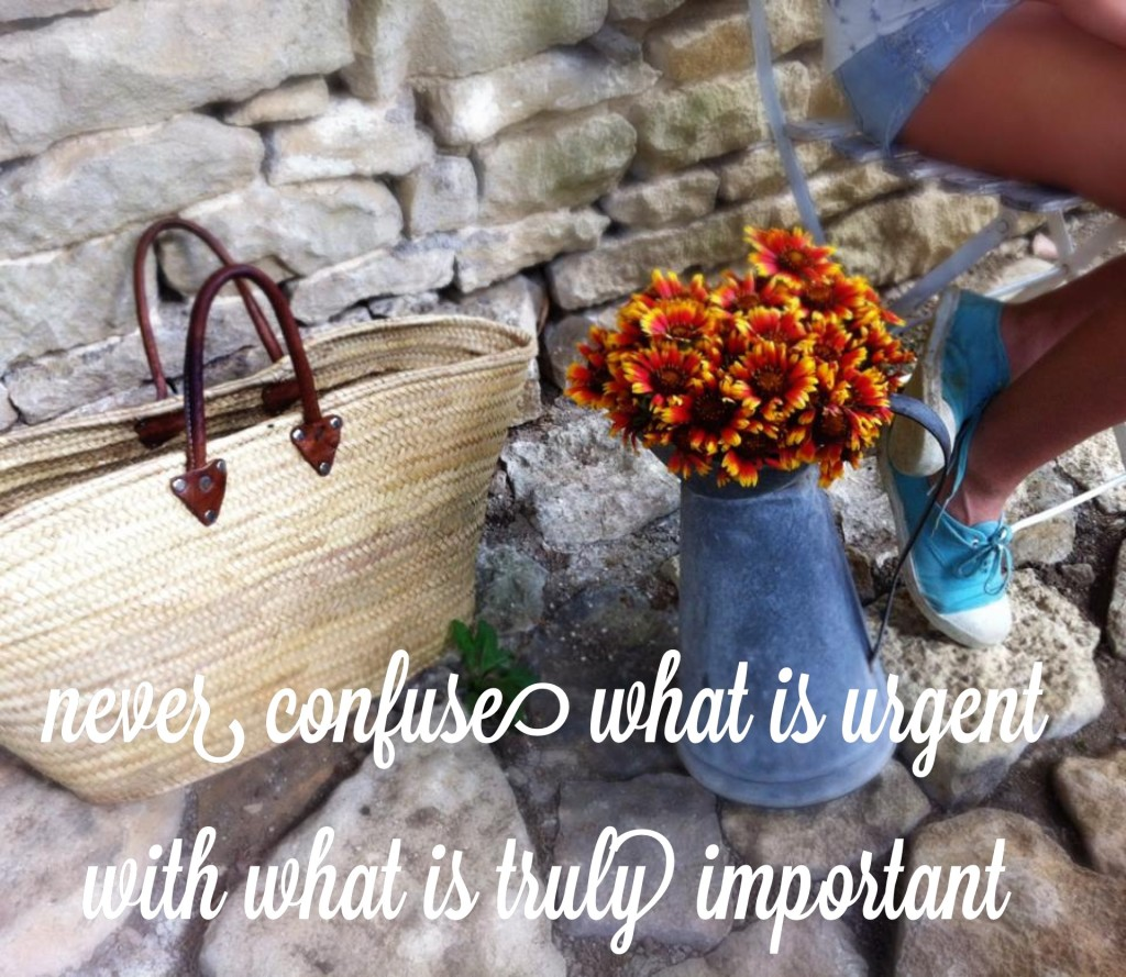 """Never confuse what is urgent with what is truly important."""
