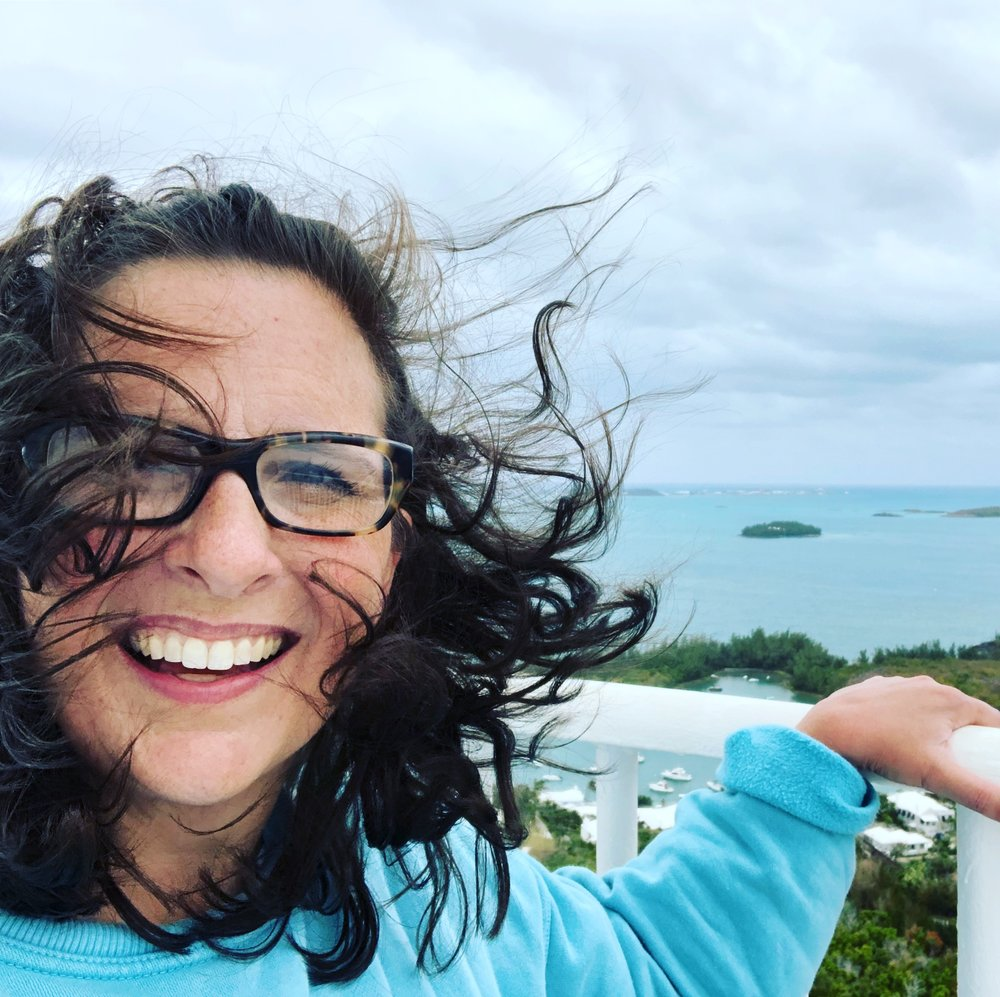 Me on top of a lighthouse in Bermuda.