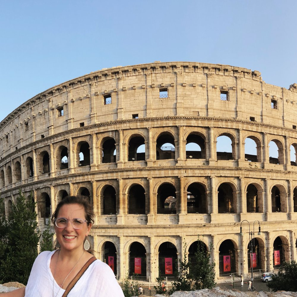 My sweating and having zero chill in front of the Coliseum.