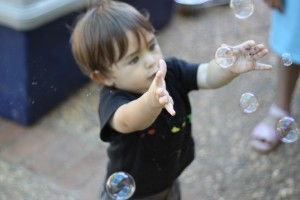 Ian Plays with Bubbles