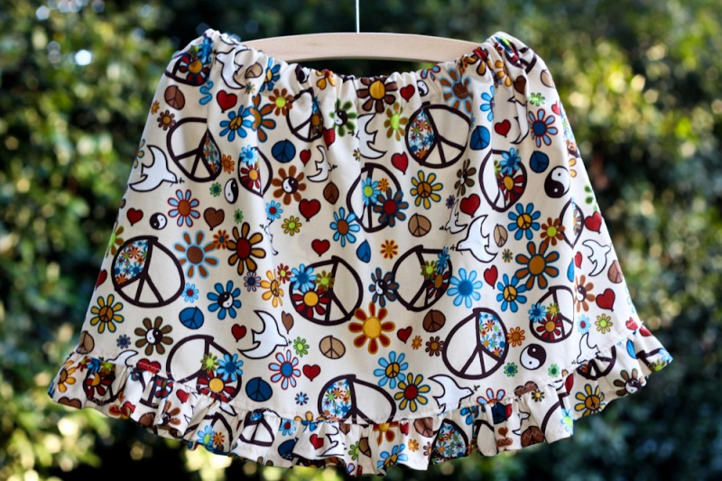 Peace Ruffle Skirt