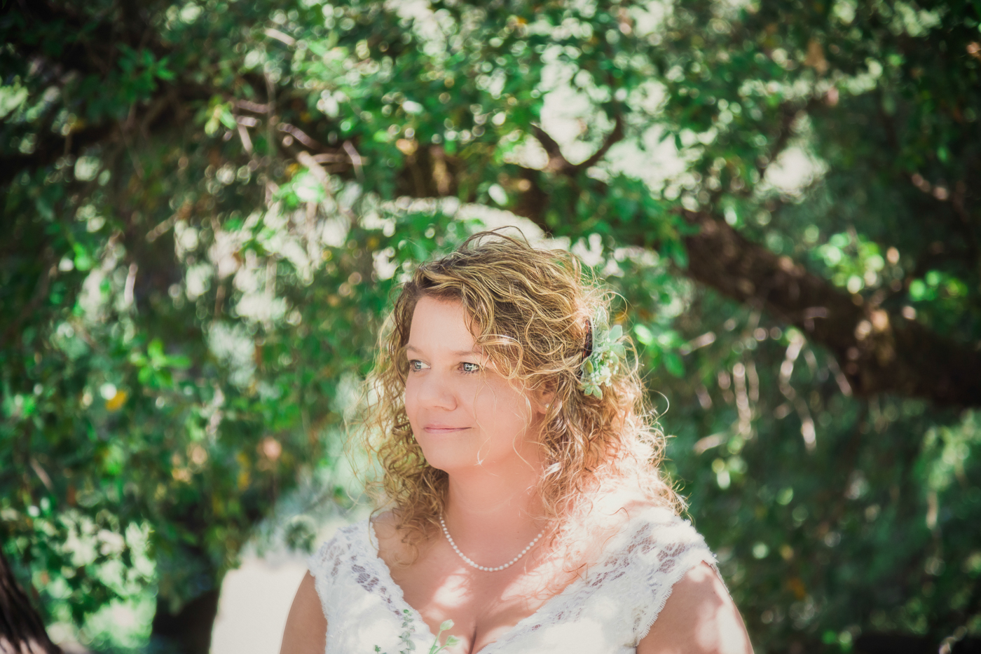 Bride at the Yuba River in Nevada City, California