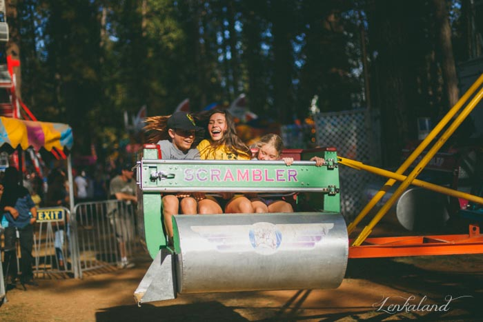 Wild ride, wild laughter at the fair