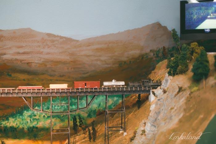 Miniature train at the Nevada County Fair