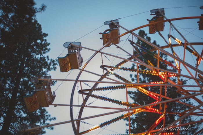 Ferris Wheel at twilight at the fair