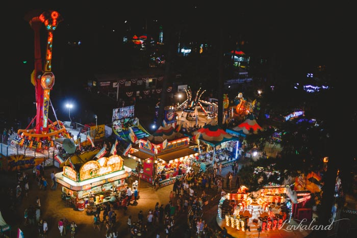Nevada County Fair midway at night
