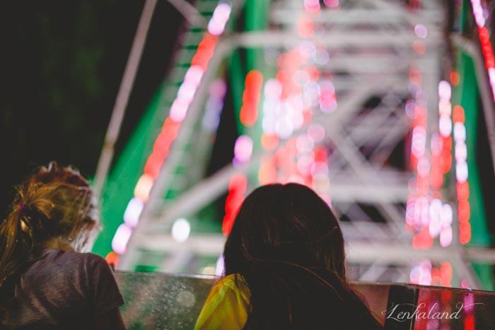 Adventurous family on the Ferris Wheel at the Nevada County Fair