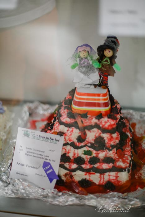 Anika wins a blue ribbon with her Zombie Wedding Cake at the Nevada County Fair