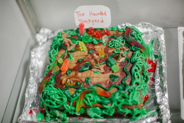 Ian's Ugly Haunted Backyard Cake wins second place