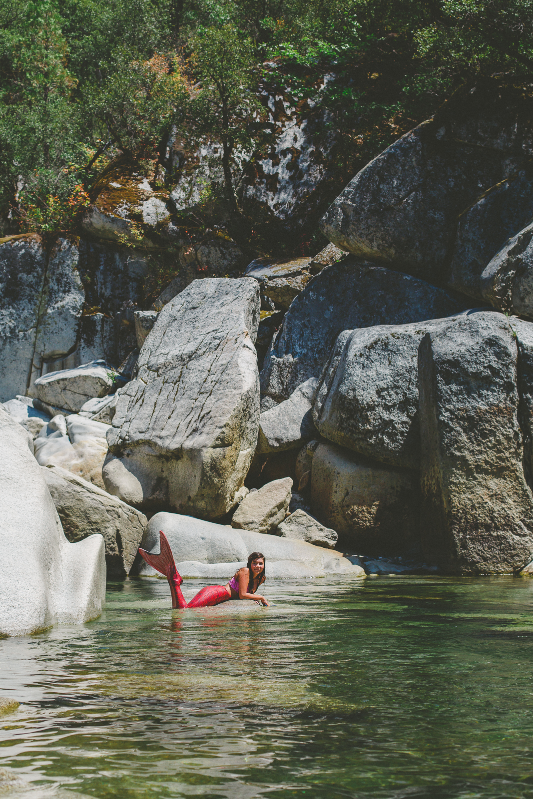 Mermaid loves nature at the Yuba River
