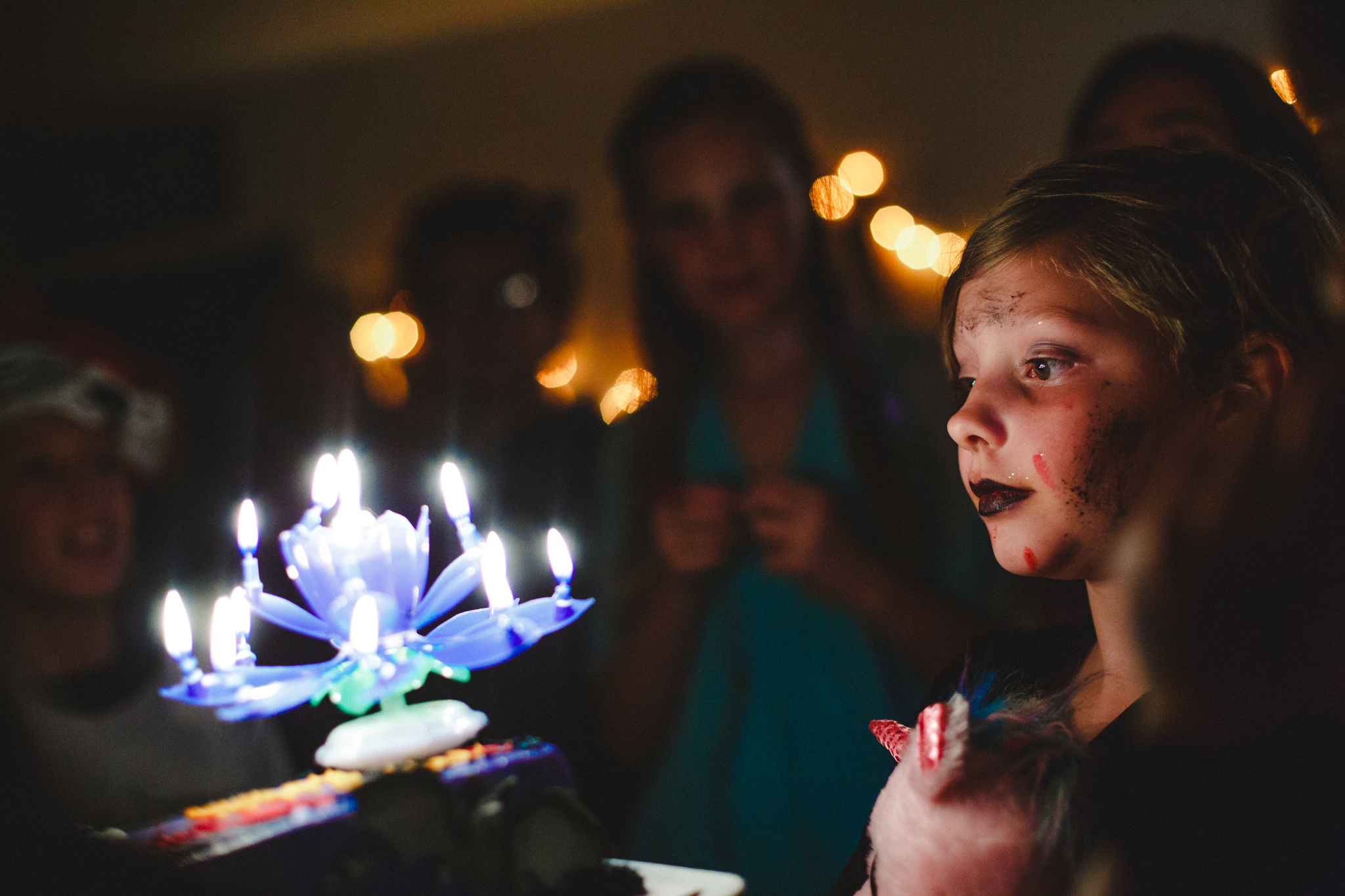 Girl with her birthday candles by Lenkaland Photography