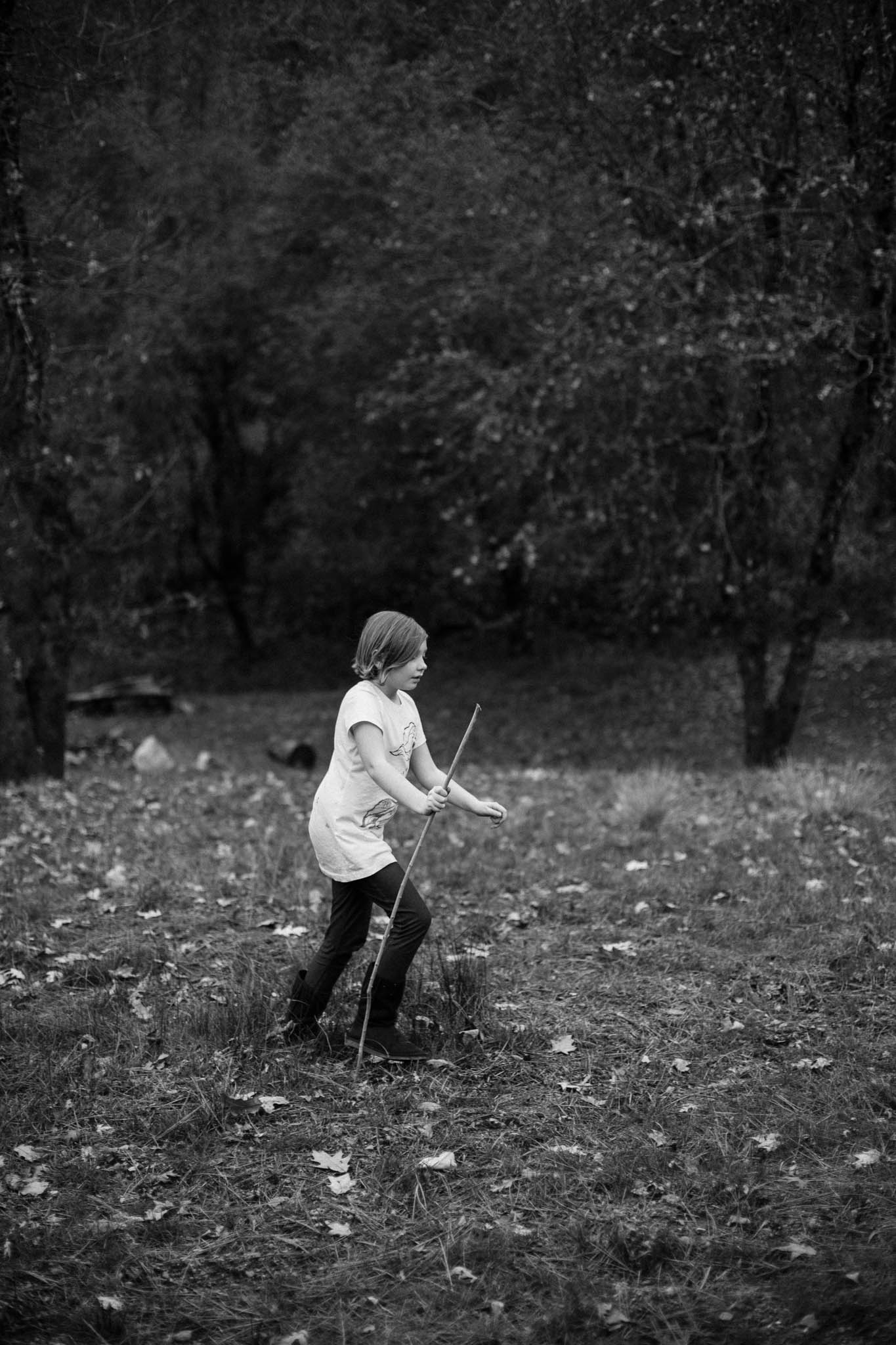Wild children photography in the woods of Northern California
