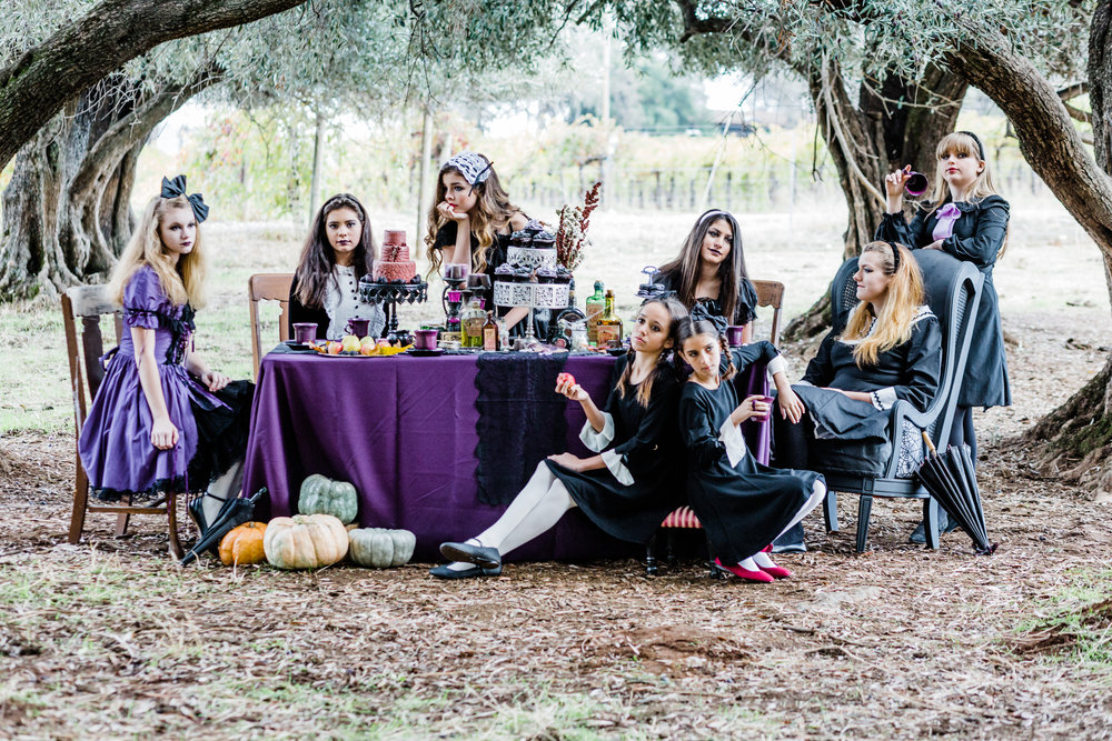 The Unconventional Portrait | Gothic Tea Party | Lenkaland Photo