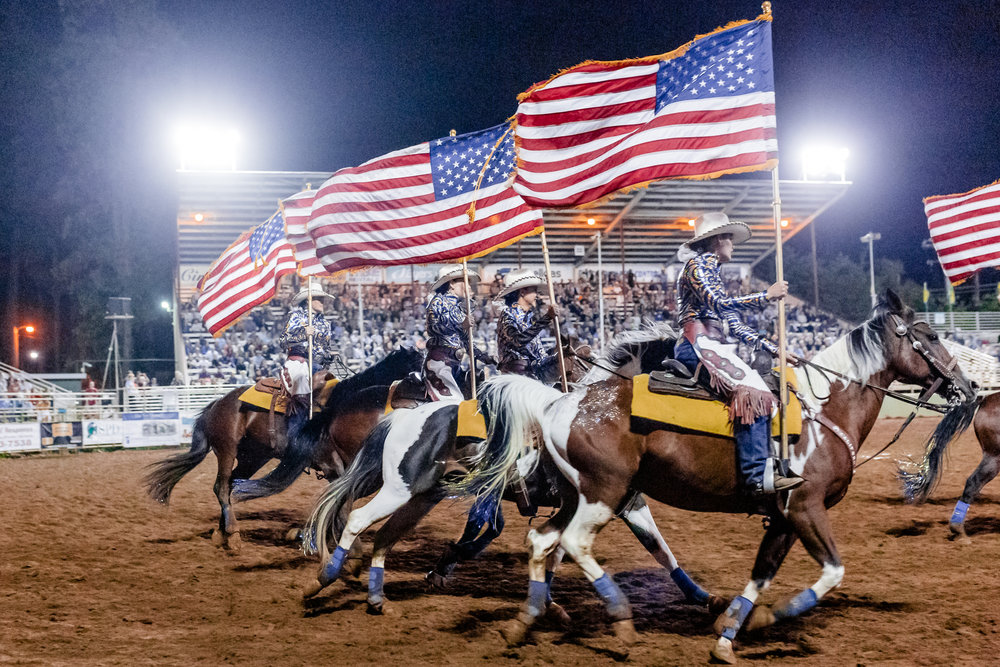 California Cowgirls at the Draft Horse Classic at the Nevada Cou