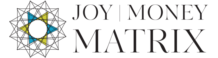 Joy Money matrix color black logo