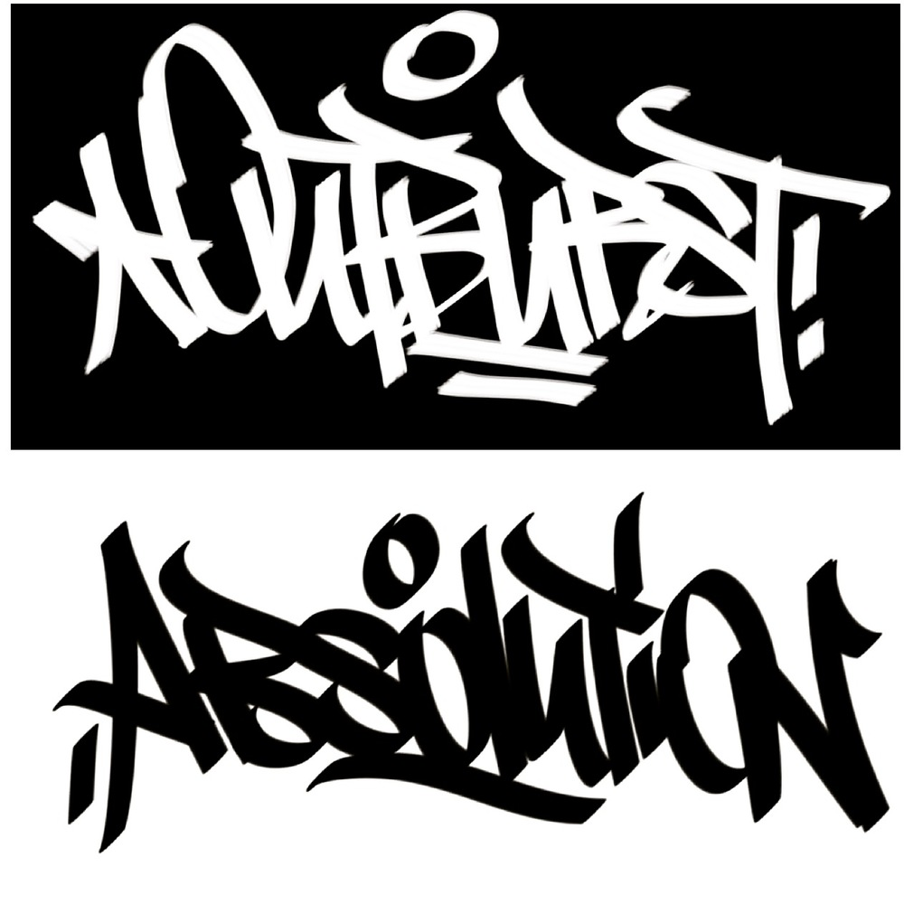 Outburst/Absolution handstyle by: HYENA