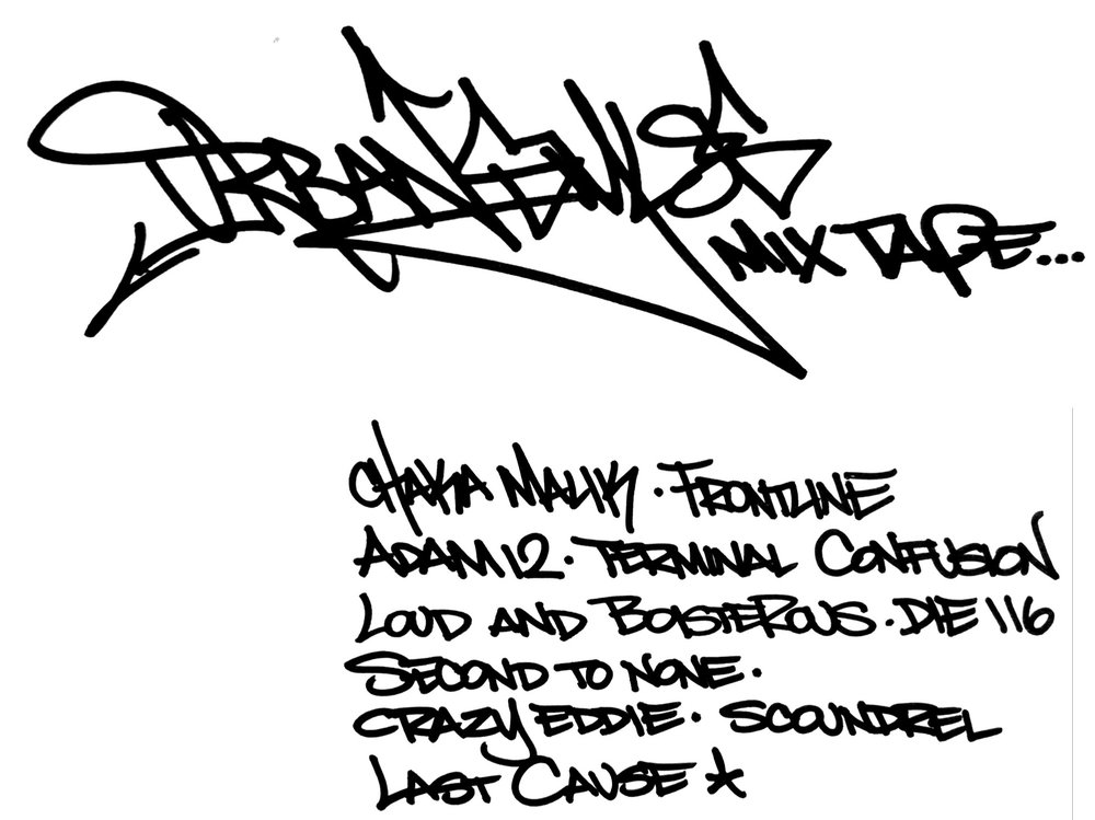 Here's the lineup for the exclusive Urban Styles Mixtape. Handstyle by KR.ONE