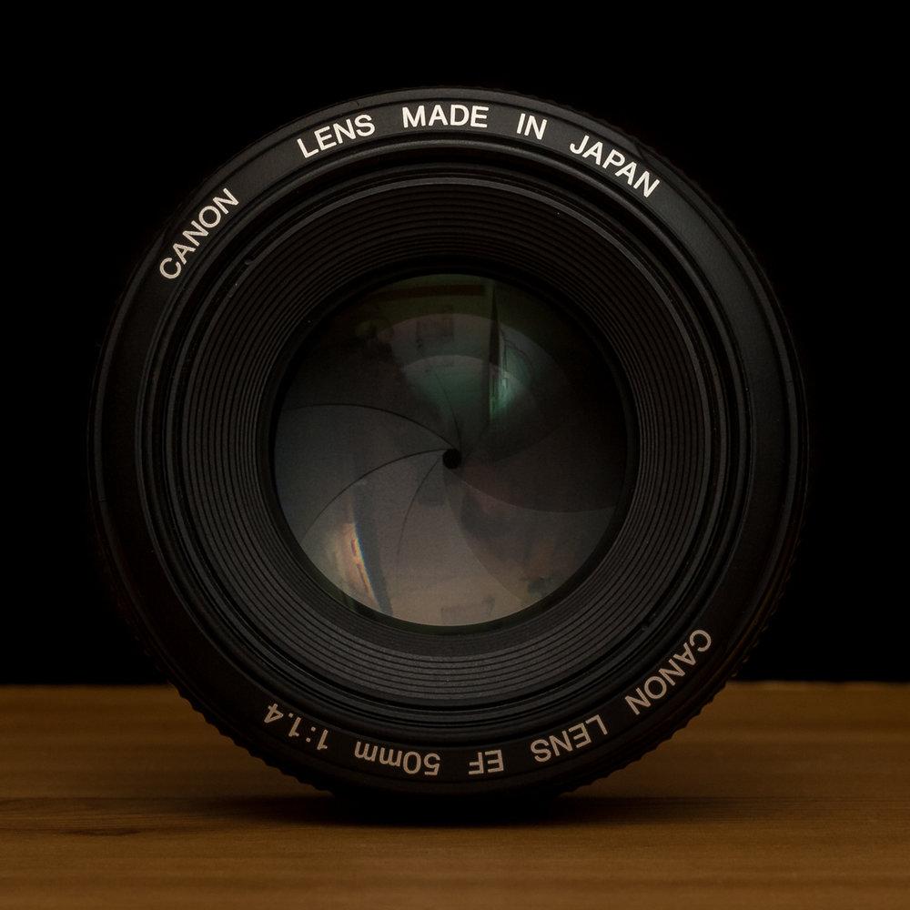 50 mm petite ouverture