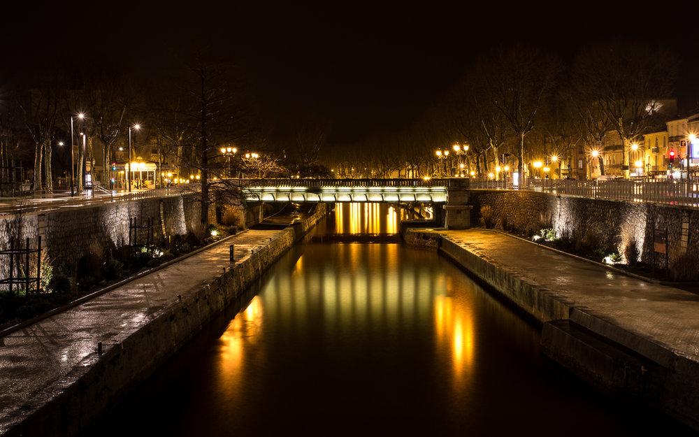 Narbonne pose longue de nuit