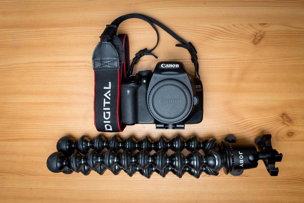 Gorillapod Focus et Canon 550D