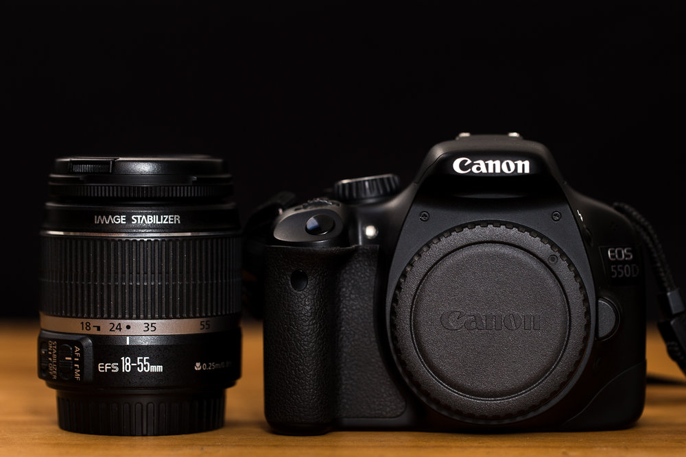 Canon 18-55 IS et 550D