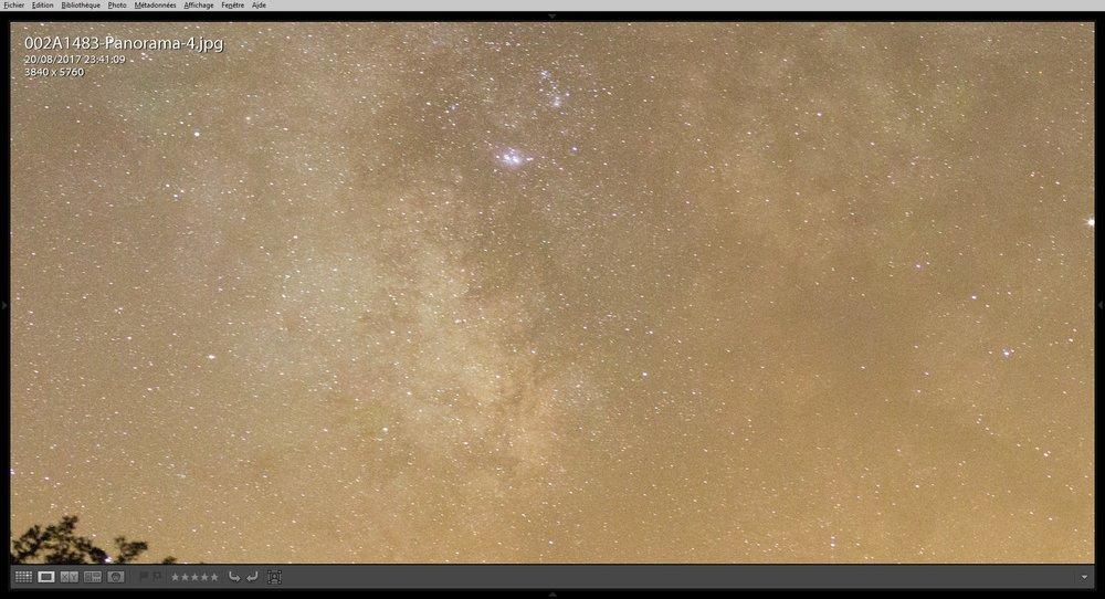 Zoom 100% avec photo réduite à la même définition qu'une prise simple