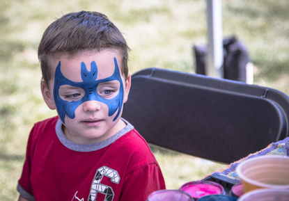 Superhero face painting -