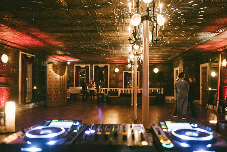 DJ Station at The Tin Ballroom Lawrence Brau photography