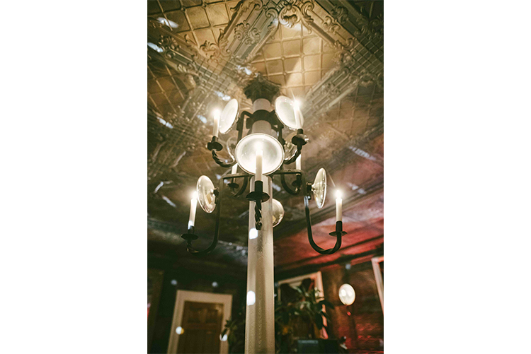 The Tin Ballroom Detail Candle Sconces Lawrence Brau photography