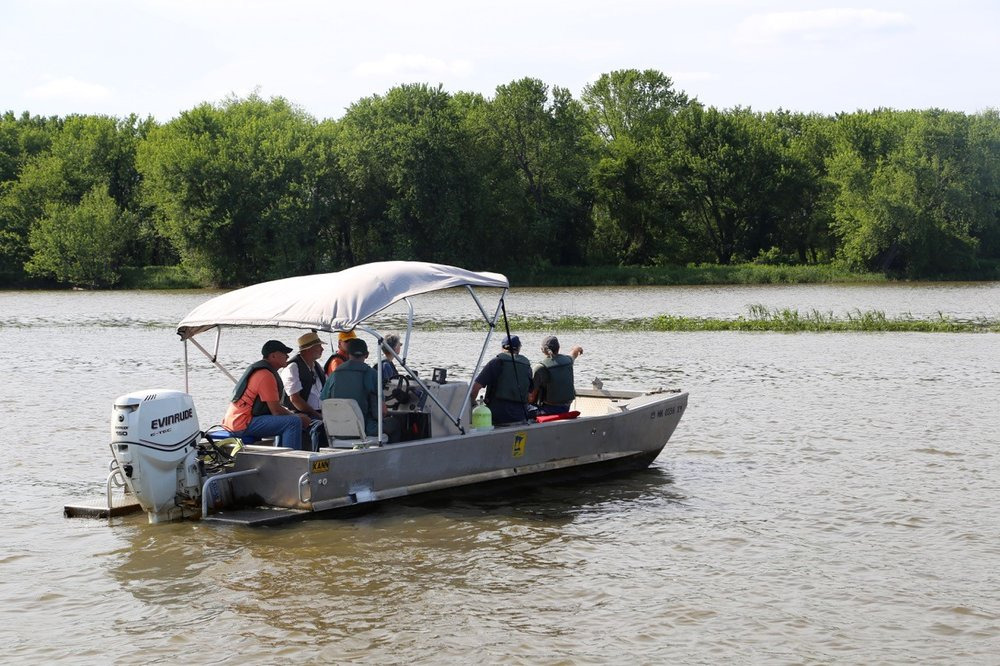 LPLA Boat tour nears Bay City floodplain forests - Photo by Anne Queenan